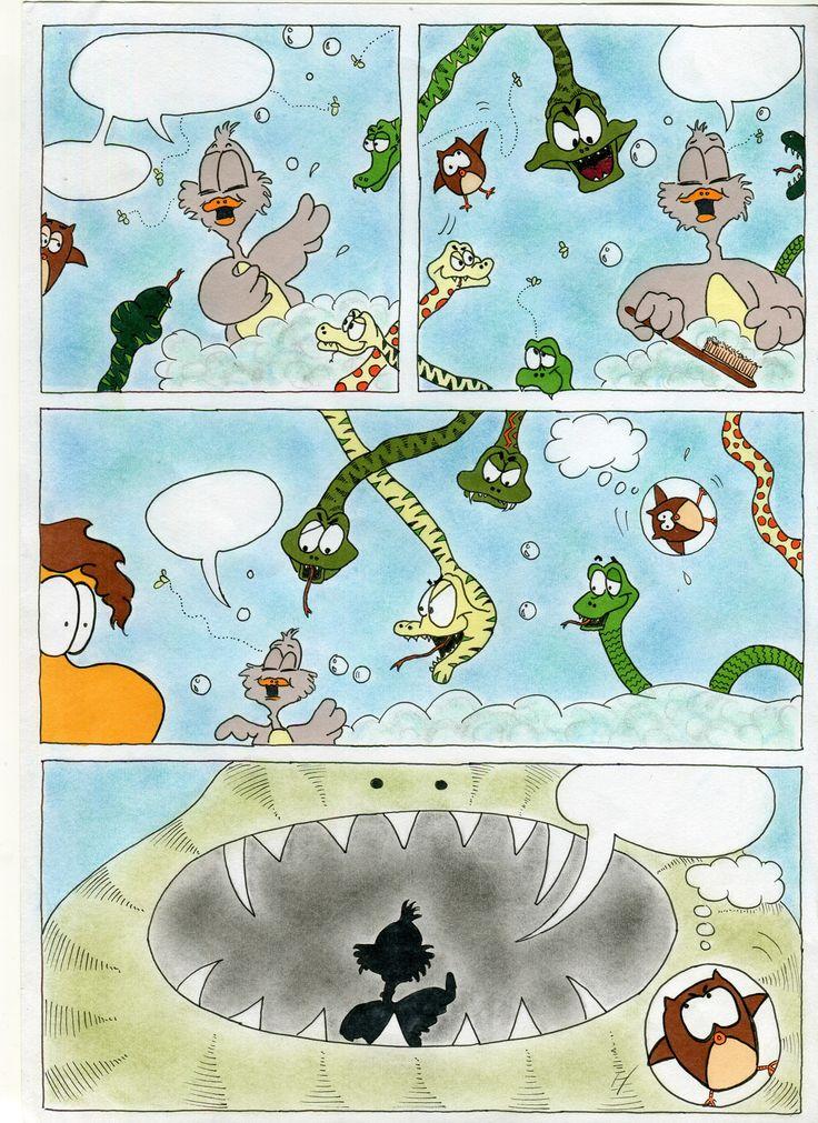 Σελίδα από το κόμικ της Εύας Φεντάκη, από το τμήμα του 2016