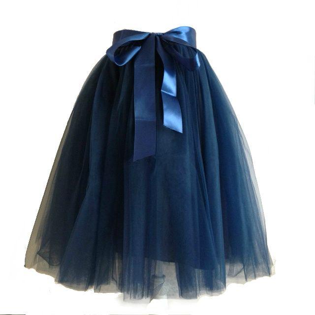 Blauwe tule rok bij Tutu Tule