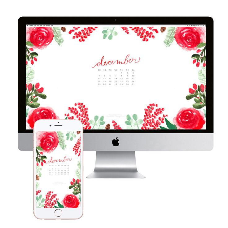 december-calendar-flowers-desktop-wallpaper-download