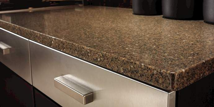 Awesome Smokey Topaz Dupont Zodiaq Quartz Color Installed in a Kitchen is one of Hundreds of Quartz Countertops Colors at Natural Stone City Fresh - Lovely quartz countertops reviews
