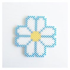Daisy hama beads by perler_beads_in_my_heart