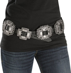 concho black single women This angel ranch women's belt has a black gator print leather  this women's barbosa turquoise concho belt will definitely  leather and features single edge.