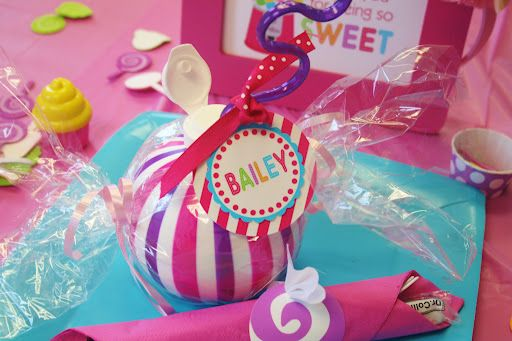 juice containers wrapped as a piece of candy....And Everything Sweet: Parties