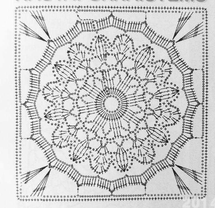 Crochet square chart pattern