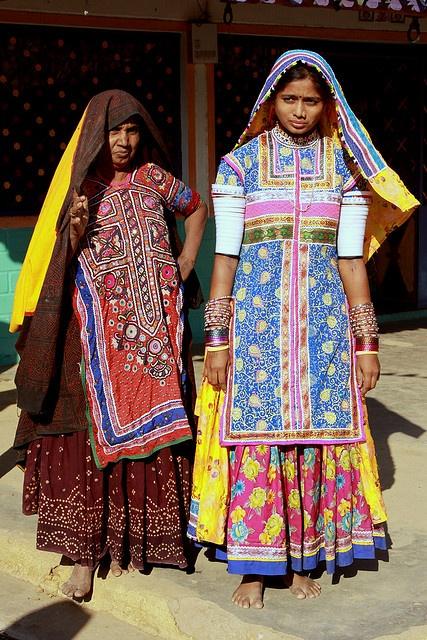 india - gujarat  Meghwal tribal people - Kvavda village.    Meghwal of Harijan tribal people.