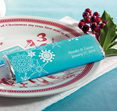 Personalized Winter Finery Chocolate Bar Favor