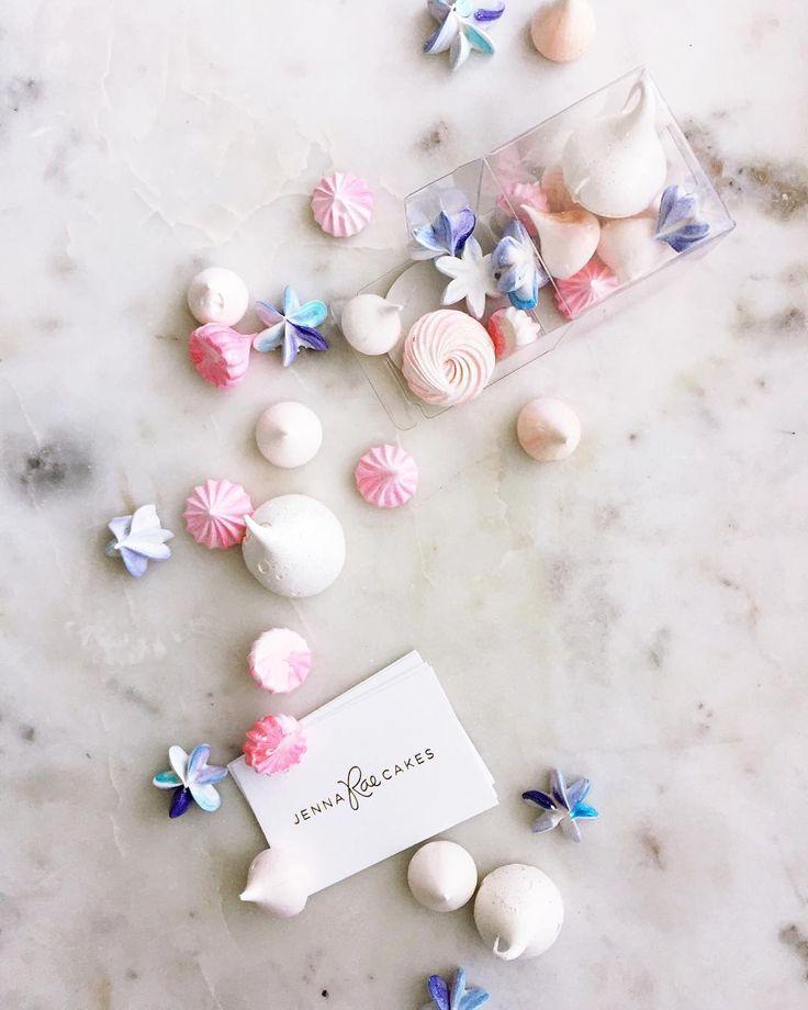 Mini meringues flavours include peach, blueberry, raspberry, vanilla, and sparkling wine!