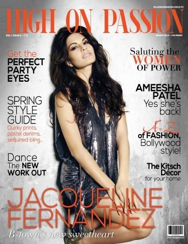 Jacueline Farnandes on The Cover of High of Passion Magazine - March 2013.