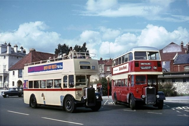 Southampton Closed and Open-Top Guy Arab Bus Photo | eBay