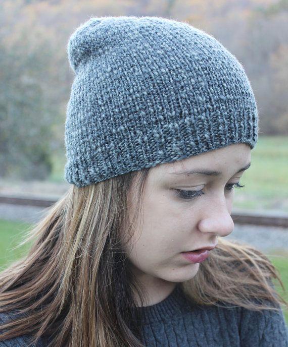 Teen Knit Hipster Hat Winter Merino by TinkerCreekHandknits