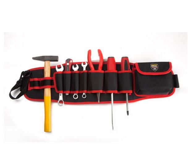 FASITE Tool COMBO Bag WAIST BELT Organizer Professional Electricians Tool Pouch Red