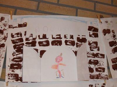 jufjanneke.nl - Ridders, jonkvrouwen en kastelen kasteel stempelen en daarna tekenen