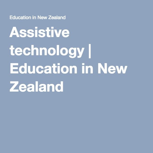 Assistive technology   Education in New Zealand