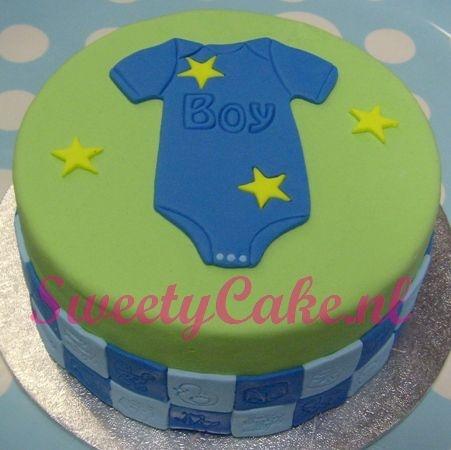 It's a boy. Jongens geboorte taart.