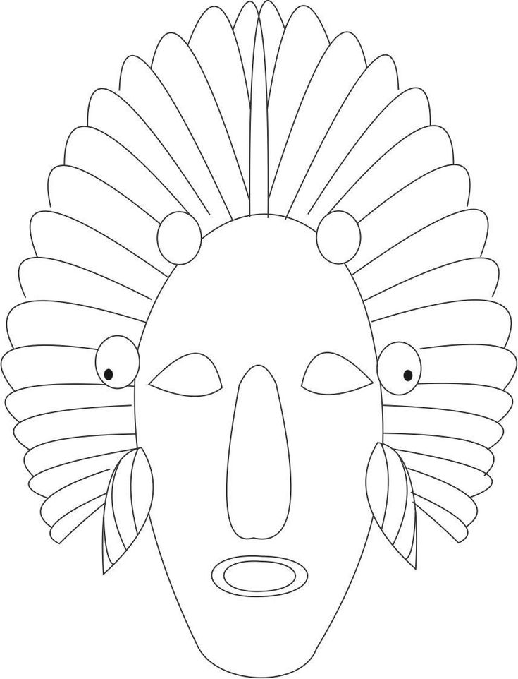 Red Indian printable coloring page for kids Coloring