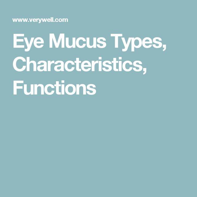 Eye Mucus Types, Characteristics, Functions