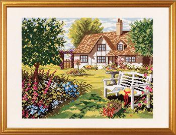 Engelsk hus og have..