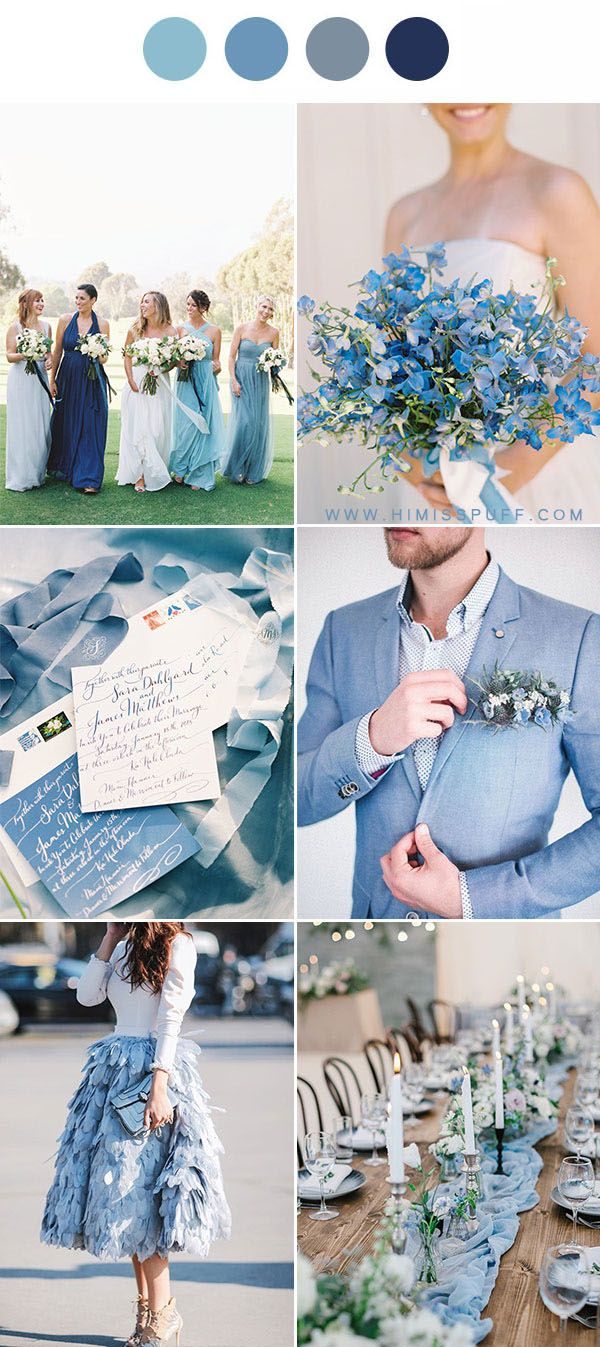 9 Dusty Blue Wedding Color Palettes That Will Totally Inspire You Blue Wedding Inspiration Wedding Palette Summer Wedding Colors