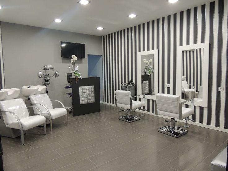 M s de 25 ideas incre bles sobre paredes rayadas en for Decoracion en peluquerias