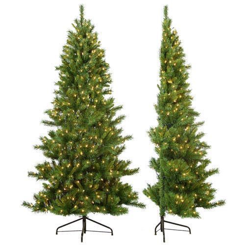 Features:  -Pre lit.  -Clear lights.  -644 Tips.  Product Type: -Artificial.  Stand Included: -Yes.  Lights Included: -Yes.  Tree Family: -Pine trees.  Number of Tips: -644.  Number of Lights: -350. D