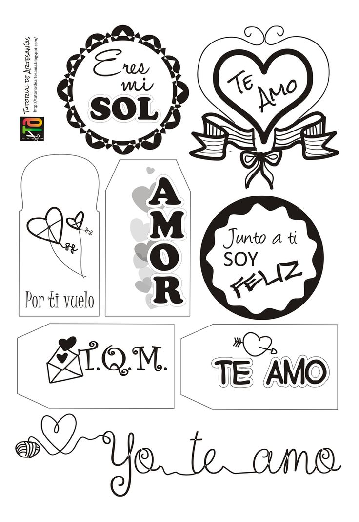 Muestra de etiquetas para San Valentín por Tutorial de Artesanías