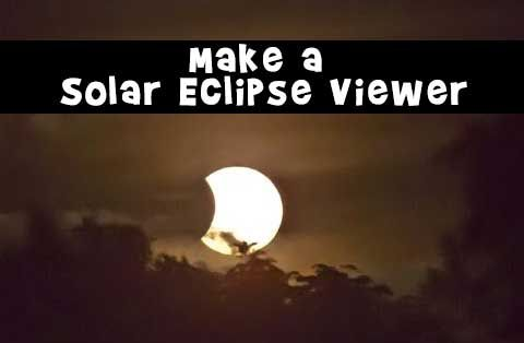 Make a simple and easy solar eclipse viewer with items you have around the house - watch the annular eclipse this weekend May 20, 2012!