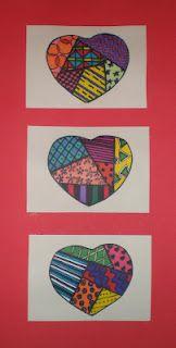 Romero Britto Inspired Hearts