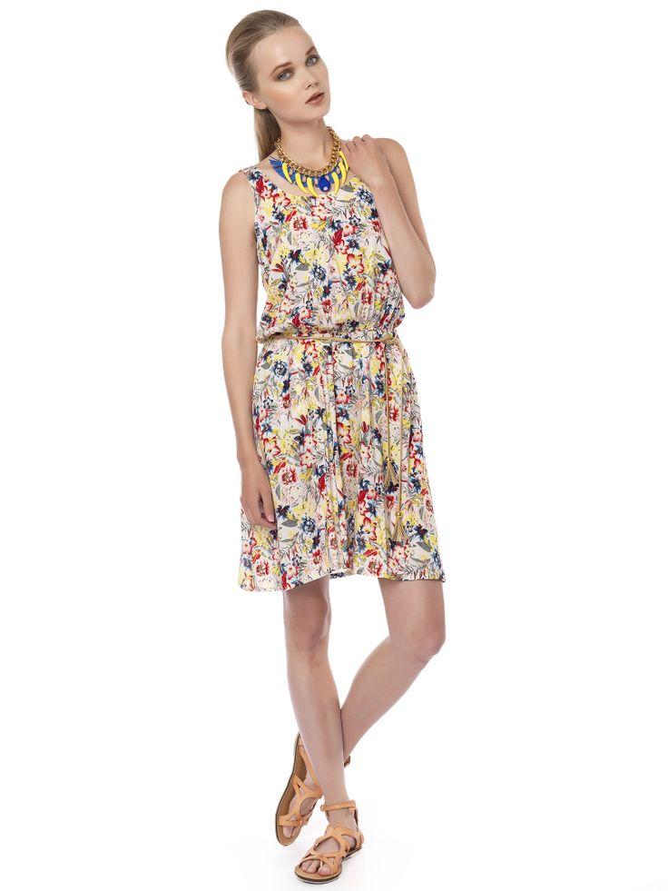#floral_mini#dress