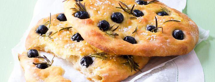Olivovo rozmarýnová focaccia