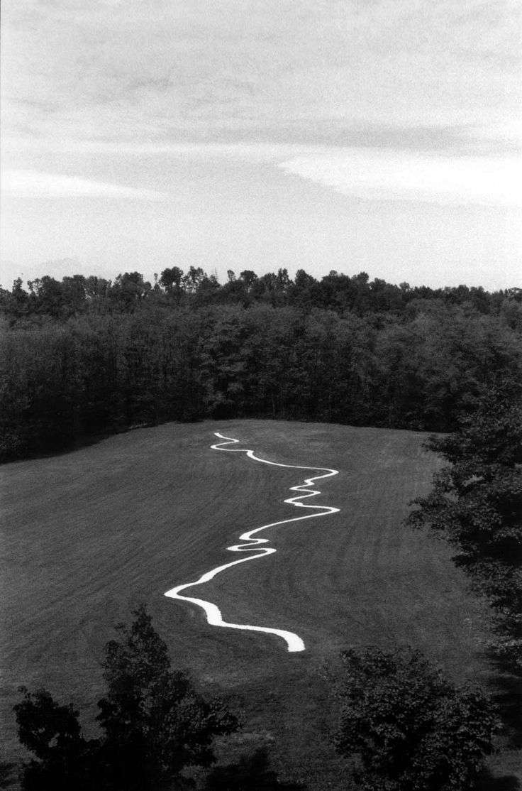 River Po Line by Richard Long. This man loves paths and circles!
