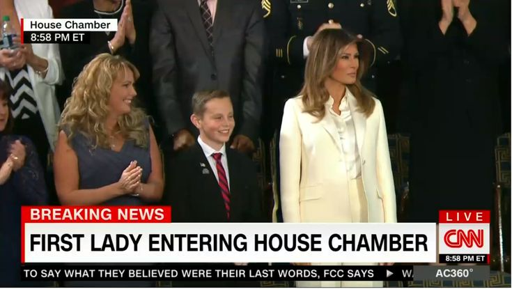 To demonstrate just how far down the drain their standards for news and analysis were, CNN spent a couple minutes before the State of the Union Tuesday wondering if First Lady Melania Trump's outfit was designed to protest the President, her own husband.