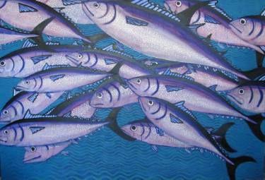 "Saatchi Art Artist Karlijn Surminski; Painting, ""Atun"" #art"
