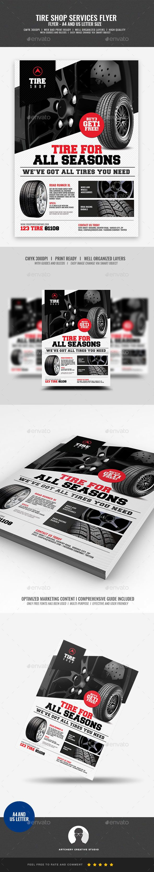 Tire Shop Promotional Flyer Design Template Boost your company¡¯s sales and attract new customers! This Tire Shop Promotional Flyer Design Template Design Template have been developed to boost your Ultimate Marketing Opportunity and brand/product awareness, Per