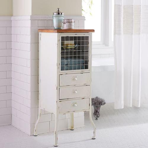. Antique White Bathroom Cabinet   Pier 1 Imports   Claire de Lune