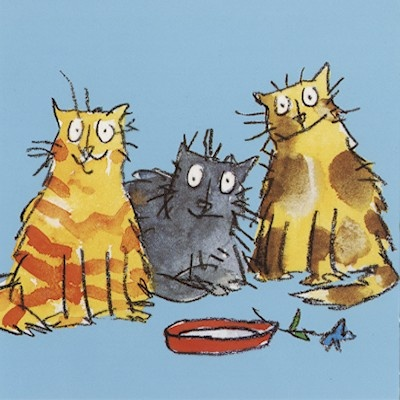 Quentin Blake cats illustration. He will always be the number one artist who influences me