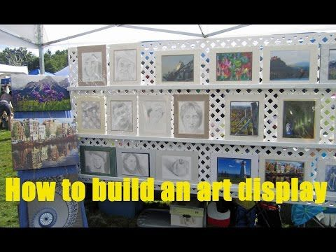 How to Build a Display for Art and Craft Shows - YouTube