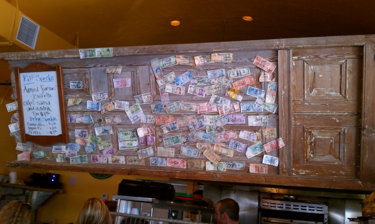 Nice way to re-use an old wood door at the Whole Enchilada, Ft. Lauderdale, FL via Amplification, Inc. Social Media Marketing http://clubcabeza.blogspot.com/