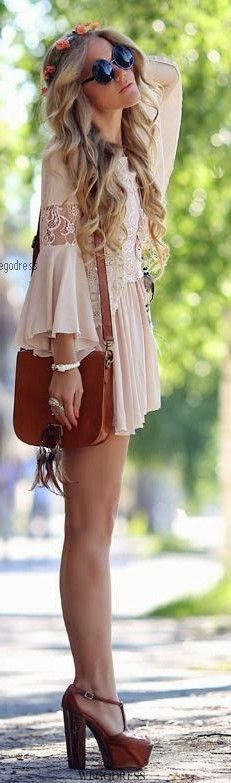 Adorable Boho-Chic Style Inspirations and Outfit Ideas