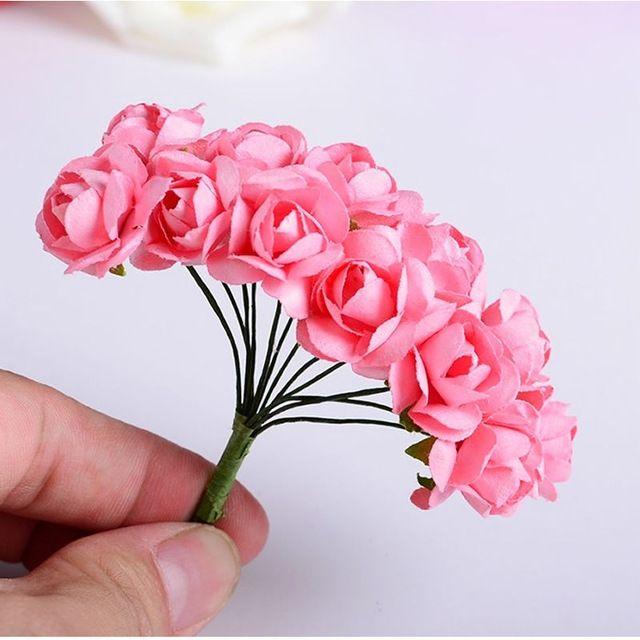 144 шт. Новый Мини Petite Искусственный Бумаги Rose Bud Свадебный Цветок Карты Украшения