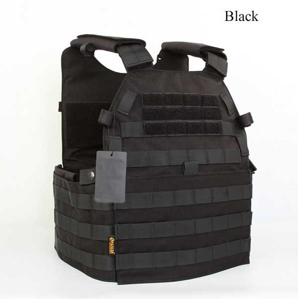 Tactical Plate Carrier with Molle System to attach all your pouches and other attachments.