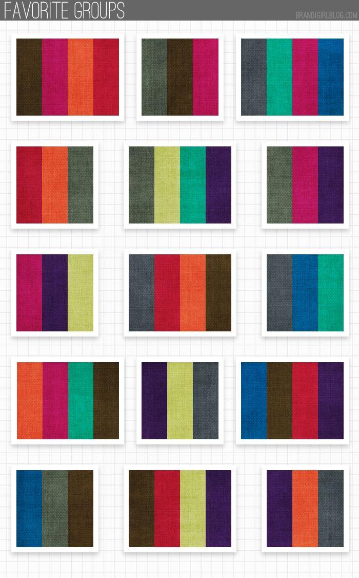 Pantone's 2013 Fall Color groupings