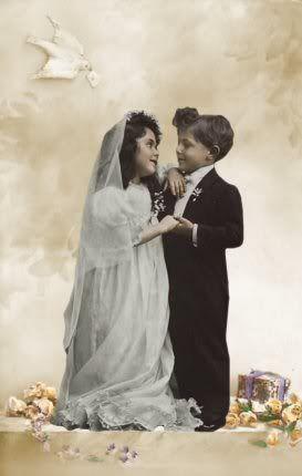 tom thumb bride and groom