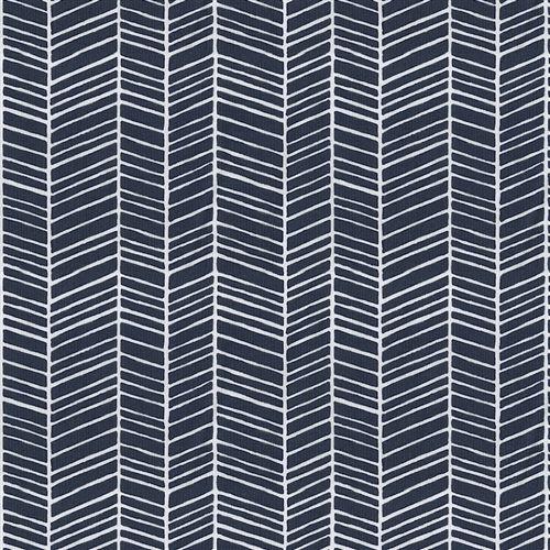 Navy Herringbone Fabric by the Yard | Navy Fabric | Carousel Designs