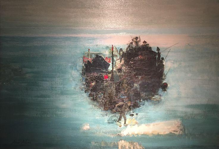 Tekne(Boat) Avni Arbaş-Tuval üzerine yağlıboya (Oil on canvas )