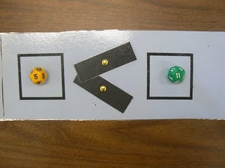 Tool for greater than, less than and equal to with many other fun, interactive math activities for young students.