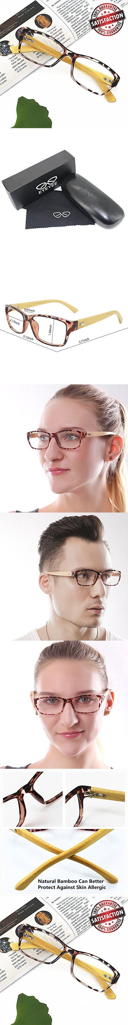 Bamboo Reading Glasses 5.0 - EyeYee 2017 New Comfortable Fit Glasses for Women Men High Magnification Light Tortoise Readers Wayfarer Anti Glare Anti Eye Strain