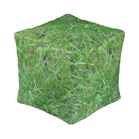 Patch of Grass, Cubed Pouf http://www.zazzle.com/patch_of_grass_cubed_pouf-256645998392220610 #Nature #Love