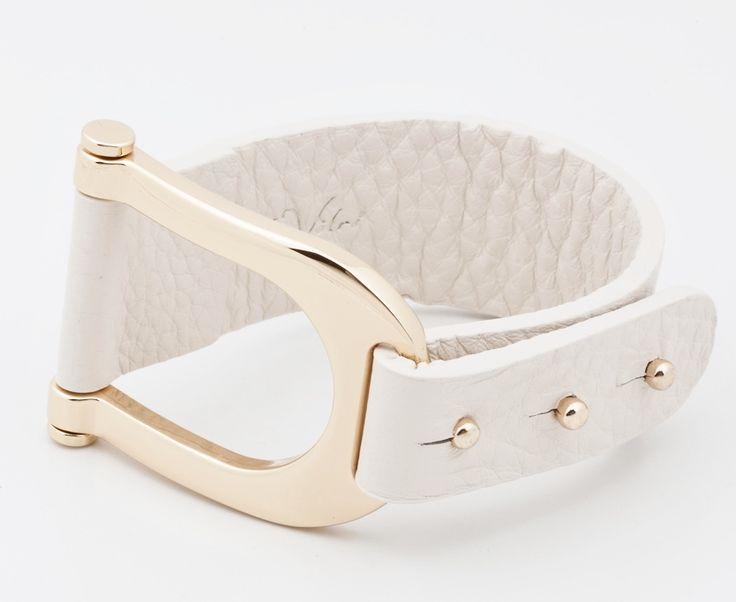 La Votre Genuine Leather White Cuff