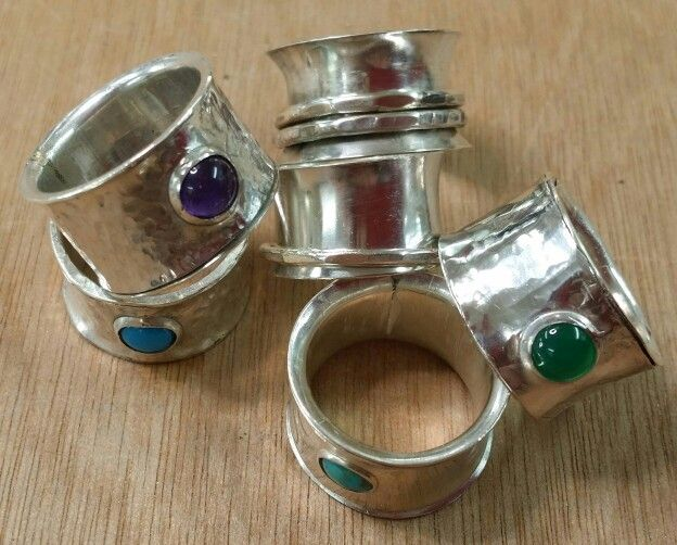 Rings made in workshop at Made in Herts