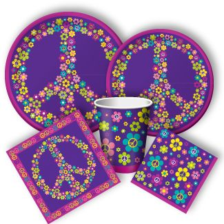 Hippie Party Supplies and Groovy tableware at http://www.discountpartysupplies.com/girl-party-supplies/hippie-party-supplies